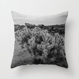 Cholla Cactus Garden IX Throw Pillow