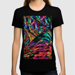 Stained Glass Jewel Tone Pattern T-shirt