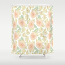 Watercolor Flower Bud Shower Curtain