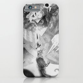 """Alice and the Jabberwocky"" or ""The Insanity Dragon"" iPhone Case"