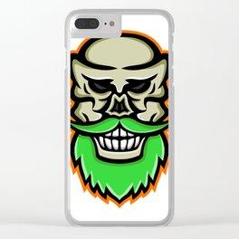 Bearded Skull or Cranium Mascot Clear iPhone Case