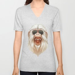 The Great White Angry Monkey Unisex V-Neck