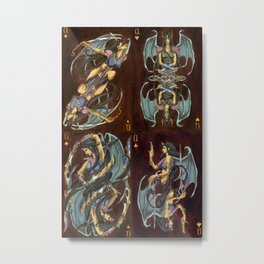 Suit of Queens -Painting Metal Print