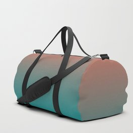 Pantone Living Coral & Viridian Green Gradient Ombre Blend Duffle Bag