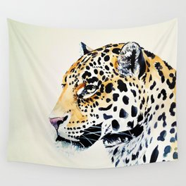 The Leopard Watercolor (Color) Wall Tapestry
