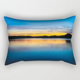 Sunset at Stumpy Lake in Virginia Beach Rectangular Pillow