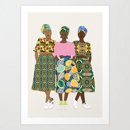 GIRLZ BAND II Art Print