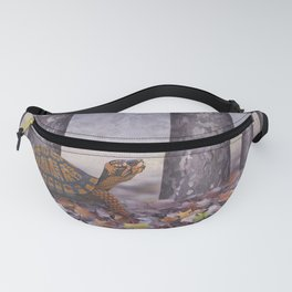 eastern box turtle in the forest Fanny Pack