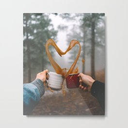 Love and Coffee Metal Print