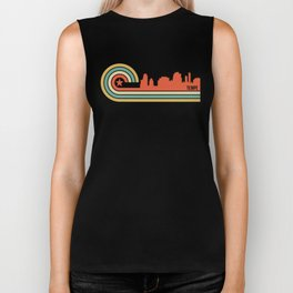 Retro Tempe Arizona Skyline Biker Tank