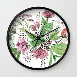 Floral festival Wall Clock