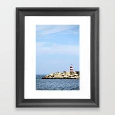 Sea Blocks Framed Art Print