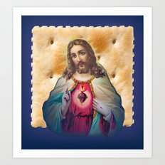 Christ On A Cracker Art Print