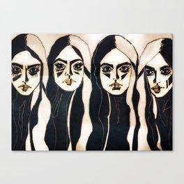 Leona, Meg, Sadie and Rosalind Canvas Print
