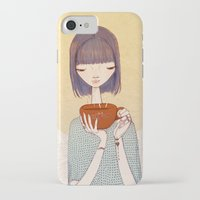 coffee iPhone & iPod Cases featuring coffee by Renia