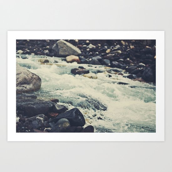 Mountain River Art Print