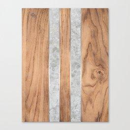 Wood Grain Stripes - Concrete #347 Canvas Print