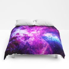Purple Blue nebuLA Comforters