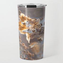 Sunlight through Dried Flowers Travel Mug