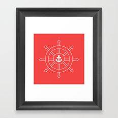 Nautical Wheel Framed Art Print