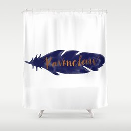 Ravenclaw Feather Shower Curtain