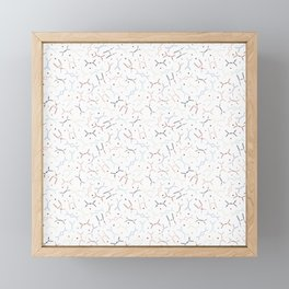 Feynman diagrams and Particles on White Framed Mini Art Print