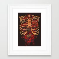 dead Framed Art Prints featuring Anatomical Study - Day of the Dead Style by Steve Simpson