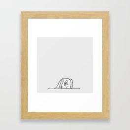 I'm gonna hide Framed Art Print