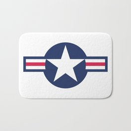 US Airforce style roundel star - High Quality image Bath Mat