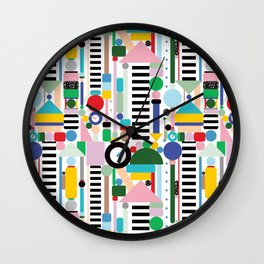 Memphis Milano Postmodern City Towers Wall Clock