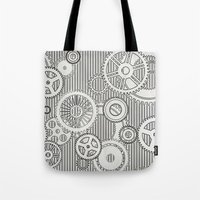 house stark Tote Bags featuring Stark Gears by Samantha Lynn