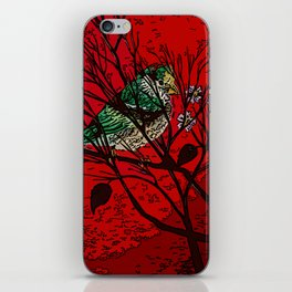 A bird in the bush iPhone Skin
