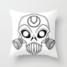 Chaos Skull Throw Pillow