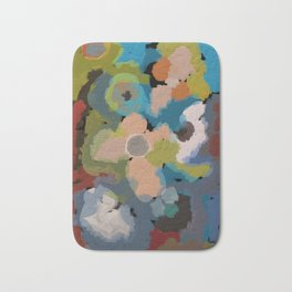 Abstact Flowers Bath Mat