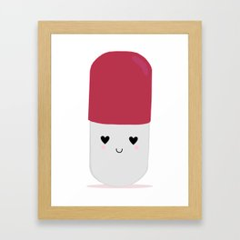 Happy Pill! Framed Art Print