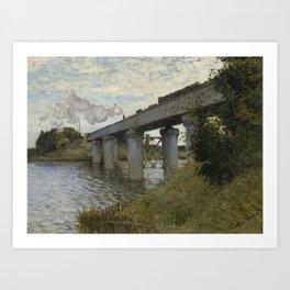 Monet - The Railroad Bridge at Argenteuil Art Print