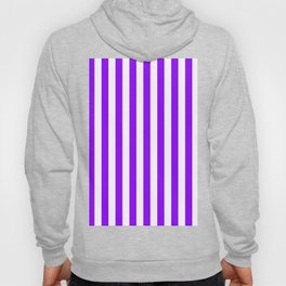 Narrow Vertical Stripes - White and Violet Hoody