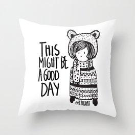 Teddy Bear Boy  Throw Pillow