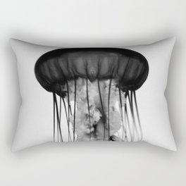 Jellyfish Black and White Rectangular Pillow