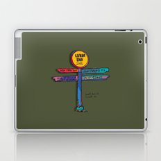 land's end sign Laptop & iPad Skin