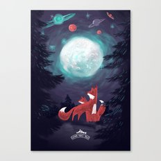 Clever Fox's Tales about the Universe Canvas Print