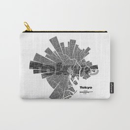 Tokyo Map Carry-All Pouch