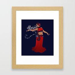 Scorpio Belly Dancer Framed Art Print