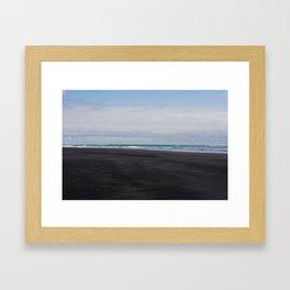 black beaches of raglan Framed Art Print