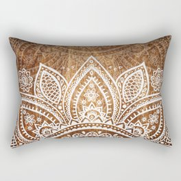 Wood + Vector Print Rectangular Pillow
