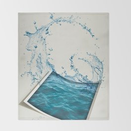 Water Color Throw Blanket