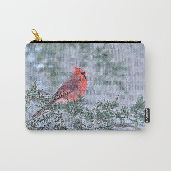 Sleet Cardinal Carry-All Pouch