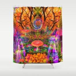 Hypnotic Autumn Magic Shower Curtain