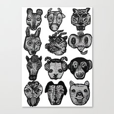 12 Animal Signs Canvas Print