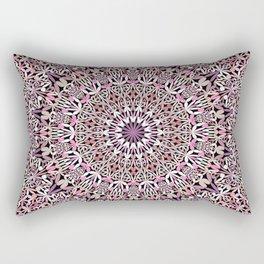 Pink Spiritual Garden Mandala Rectangular Pillow
